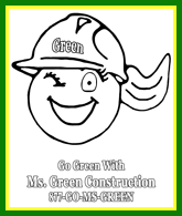 Ms. Green Construction Mi logo for coloring