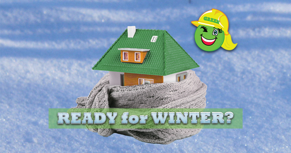 Ready for Winter text on Insulated House